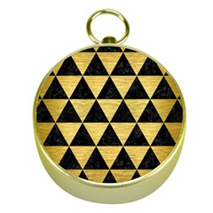 Triangle3 Black Marble & Gold Brushed Metal Gold Compass by trendistuff