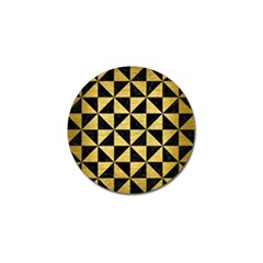 Triangle1 Black Marble & Gold Brushed Metal Golf Ball Marker (4 Pack) by trendistuff