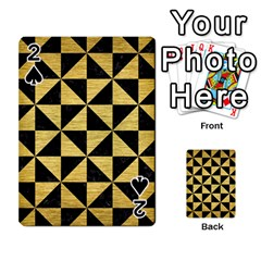 Triangle1 Black Marble & Gold Brushed Metal Playing Cards 54 Designs