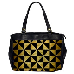 Triangle1 Black Marble & Gold Brushed Metal Oversize Office Handbag by trendistuff