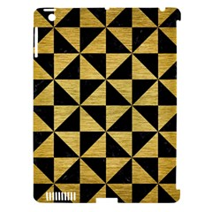 Triangle1 Black Marble & Gold Brushed Metal Apple Ipad 3/4 Hardshell Case (compatible With Smart Cover) by trendistuff