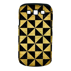 Triangle1 Black Marble & Gold Brushed Metal Samsung Galaxy S Iii Classic Hardshell Case (pc+silicone) by trendistuff