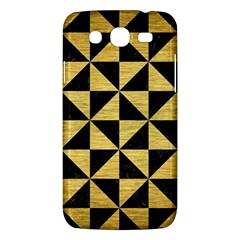 Triangle1 Black Marble & Gold Brushed Metal Samsung Galaxy Mega 5 8 I9152 Hardshell Case  by trendistuff