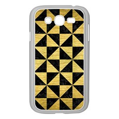 Triangle1 Black Marble & Gold Brushed Metal Samsung Galaxy Grand Duos I9082 Case (white) by trendistuff