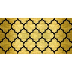 Tile1 Black Marble & Gold Brushed Metal (r) You Are Invited 3d Greeting Card (8x4)