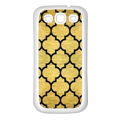 Tile1 Black Marble & Gold Brushed Metal (r) Samsung Galaxy S3 Back Case (white) by trendistuff