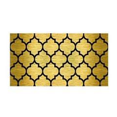Tile1 Black Marble & Gold Brushed Metal (r) Satin Wrap by trendistuff