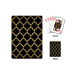 Tile1 Black Marble & Gold Brushed Metal Playing Cards (mini) by trendistuff