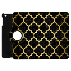 Tile1 Black Marble & Gold Brushed Metal Apple Ipad Mini Flip 360 Case by trendistuff