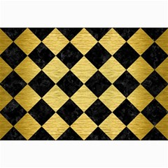 Square2 Black Marble & Gold Brushed Metal Collage 12  X 18  by trendistuff