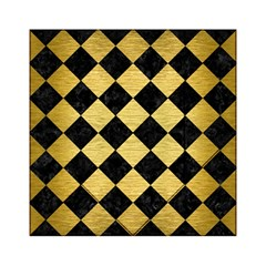 Square2 Black Marble & Gold Brushed Metal Acrylic Tangram Puzzle (6  X 6 ) by trendistuff