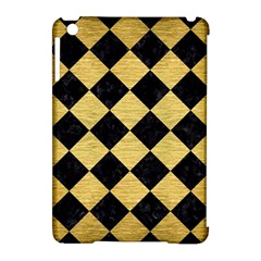 Square2 Black Marble & Gold Brushed Metal Apple Ipad Mini Hardshell Case (compatible With Smart Cover) by trendistuff