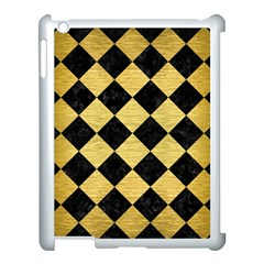 Square2 Black Marble & Gold Brushed Metal Apple Ipad 3/4 Case (white) by trendistuff