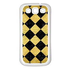 Square2 Black Marble & Gold Brushed Metal Samsung Galaxy S3 Back Case (white) by trendistuff