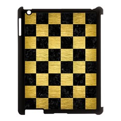 Square1 Black Marble & Gold Brushed Metal Apple Ipad 3/4 Case (black) by trendistuff