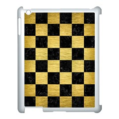 Square1 Black Marble & Gold Brushed Metal Apple Ipad 3/4 Case (white) by trendistuff