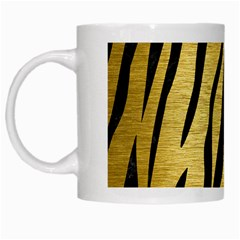 Skin3 Black Marble & Gold Brushed Metal (r) White Mug by trendistuff