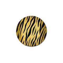 Skin3 Black Marble & Gold Brushed Metal (r) Golf Ball Marker by trendistuff