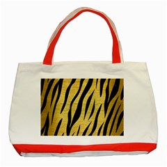 Skin3 Black Marble & Gold Brushed Metal (r) Classic Tote Bag (red) by trendistuff