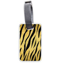 Skin3 Black Marble & Gold Brushed Metal (r) Luggage Tag (two Sides)