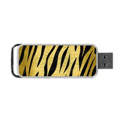 Skin3 Black Marble & Gold Brushed Metal (r) Portable Usb Flash (two Sides) by trendistuff