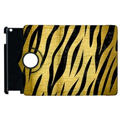 Skin3 Black Marble & Gold Brushed Metal (r) Apple Ipad 2 Flip 360 Case by trendistuff