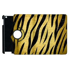 Skin3 Black Marble & Gold Brushed Metal (r) Apple Ipad 3/4 Flip 360 Case by trendistuff