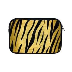 Skin3 Black Marble & Gold Brushed Metal (r) Apple Ipad Mini Zipper Case by trendistuff