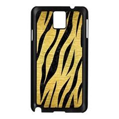 Skin3 Black Marble & Gold Brushed Metal (r) Samsung Galaxy Note 3 N9005 Case (black) by trendistuff