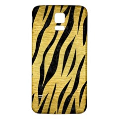Skin3 Black Marble & Gold Brushed Metal (r) Samsung Galaxy S5 Back Case (white) by trendistuff