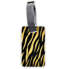 Skin3 Black Marble & Gold Brushed Metal Luggage Tag (two Sides)