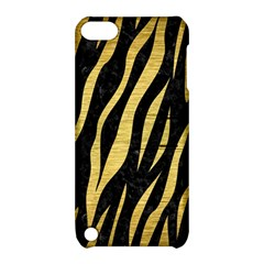 Skin3 Black Marble & Gold Brushed Metal Apple Ipod Touch 5 Hardshell Case With Stand by trendistuff