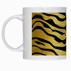 Skin2 Black Marble & Gold Brushed Metal (r) White Mug by trendistuff