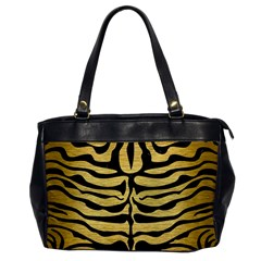 Skin2 Black Marble & Gold Brushed Metal (r) Oversize Office Handbag by trendistuff