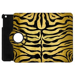 Skin2 Black Marble & Gold Brushed Metal (r) Apple Ipad Mini Flip 360 Case by trendistuff