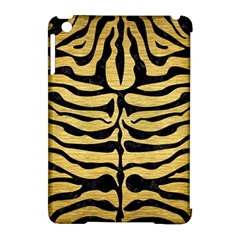 Skin2 Black Marble & Gold Brushed Metal (r) Apple Ipad Mini Hardshell Case (compatible With Smart Cover) by trendistuff