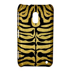 Skin2 Black Marble & Gold Brushed Metal (r) Nokia Lumia 620 Hardshell Case by trendistuff