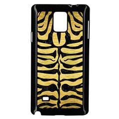Skin2 Black Marble & Gold Brushed Metal (r) Samsung Galaxy Note 4 Case (black) by trendistuff