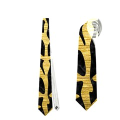 Skin2 Black Marble & Gold Brushed Metal Necktie (one Side) by trendistuff