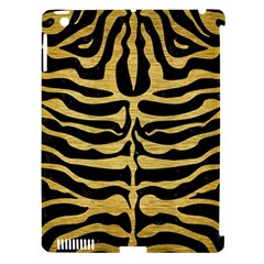 Skin2 Black Marble & Gold Brushed Metal Apple Ipad 3/4 Hardshell Case (compatible With Smart Cover) by trendistuff