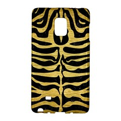 Skin2 Black Marble & Gold Brushed Metal Samsung Galaxy Note Edge Hardshell Case by trendistuff