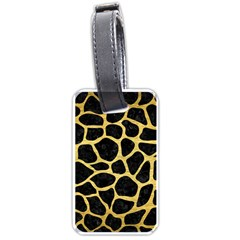 Skin1 Black Marble & Gold Brushed Metal (r) Luggage Tag (one Side) by trendistuff