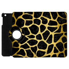 Skin1 Black Marble & Gold Brushed Metal (r) Apple Ipad Mini Flip 360 Case by trendistuff