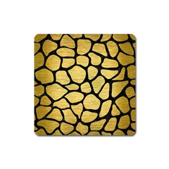 Skin1 Black Marble & Gold Brushed Metal Magnet (square) by trendistuff