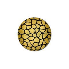 Skin1 Black Marble & Gold Brushed Metal Golf Ball Marker (10 Pack) by trendistuff