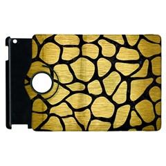 Skin1 Black Marble & Gold Brushed Metal Apple Ipad 2 Flip 360 Case by trendistuff