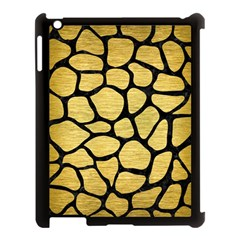Skin1 Black Marble & Gold Brushed Metal Apple Ipad 3/4 Case (black) by trendistuff