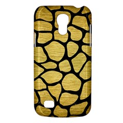 Skin1 Black Marble & Gold Brushed Metal Samsung Galaxy S4 Mini (gt I9190) Hardshell Case  by trendistuff