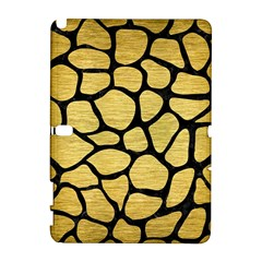 Skin1 Black Marble & Gold Brushed Metal Samsung Galaxy Note 10 1 (p600) Hardshell Case by trendistuff