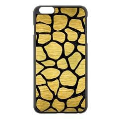 Skin1 Black Marble & Gold Brushed Metal Apple Iphone 6 Plus/6s Plus Black Enamel Case by trendistuff